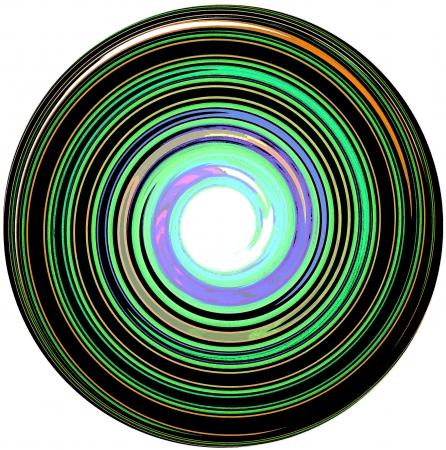 meditation isolated white: illustration of abstract Mandala Stock Photo