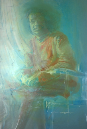 Sai Baba painting  by myself  Standard-Bild