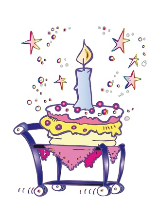 birthday invitation - cartoon style photo