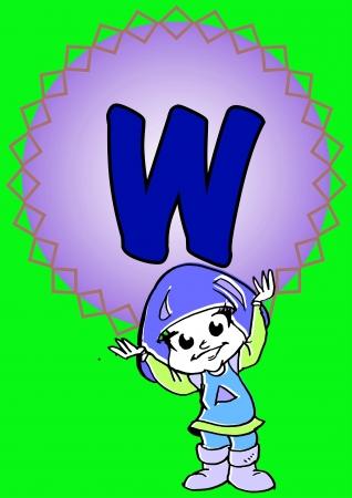 pedagogy: W-alphabeth for kids