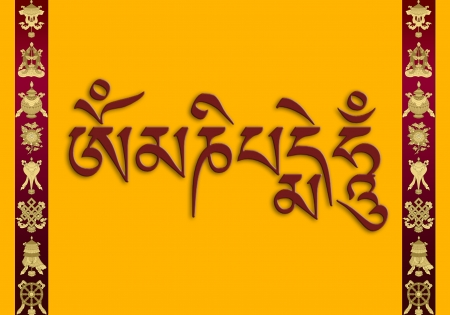 tibetan mantra: Om Mani Padme Hum photo