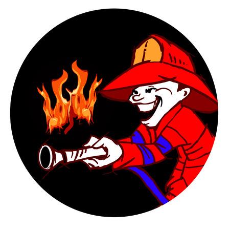 borne fontaine: pompier