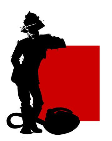 bombero de rojo: rojo del bombero
