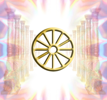 buddhist wheel photo
