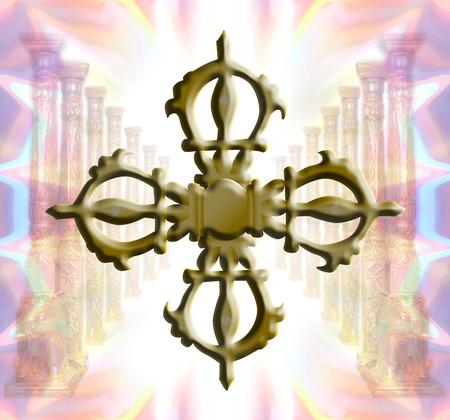 budda: Nirvana with golden vajra