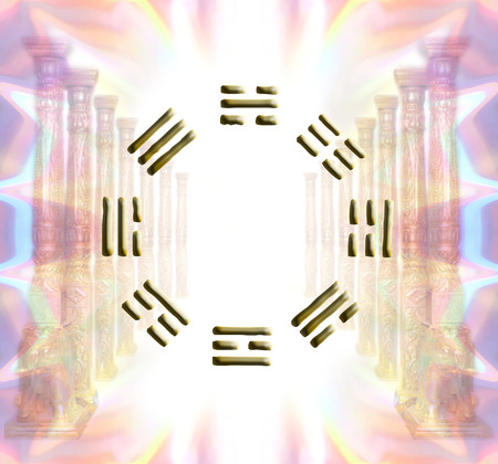 I-Ching spiritual concept 版權商用圖片