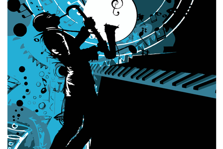 jazz saxophonist musician silhouette