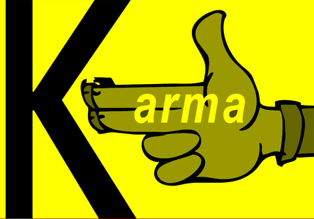 Karma concept: finger gun to mimic a handgun Illustration