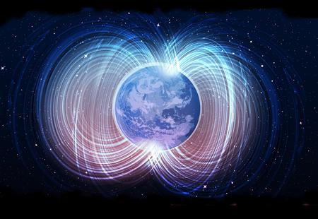 Magnetic field of earth Standard-Bild