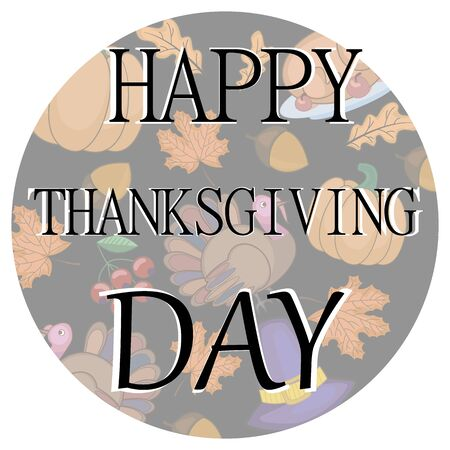 thanksgiving card Turkey, pumpkin, autumn in vector