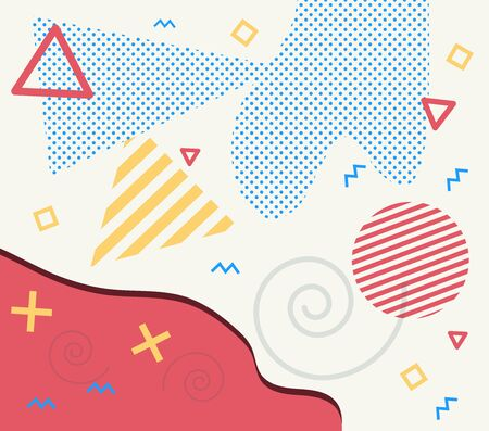 Abstract concept graphic playground banner in vector