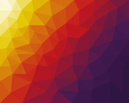 telón de fondo de vector con líneas, triángulos. Ilustración abstracta moderna con triángulos de colores. Vector