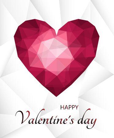 Happy valentines day postcard in vector Archivio Fotografico - 136547454