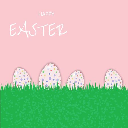 Perfect colorful handmade easter eggs isolated vector