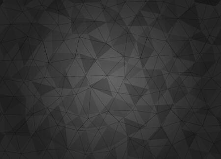 Geometric pattern, triangles vector background in black and gray tones. vector illustration Archivio Fotografico - 136899892
