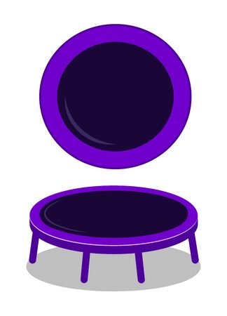 Jumping trampoline vector flat realistic icon. Isolated trampoline set for children and adults for fun indoor or outdoor fitness jumping Archivio Fotografico - 136900250