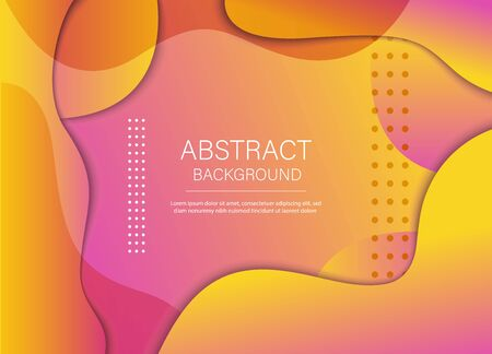 Colorful geometric background. Composition of the liquid form. Creative illustration for poster, web, landing, page, cover, ad, greeting, postcard promotionVector illustration Archivio Fotografico - 137255215