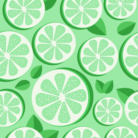 Seamless lime pattern. pattern of slice of lemon isolated icon vector illustration desing