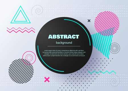 Hipster modern geometric abstract background. Abstract circle geometric pattern design and background. Template for modern design, covers, templates, decorated, brochures, flyer. Business template for bright color. vector