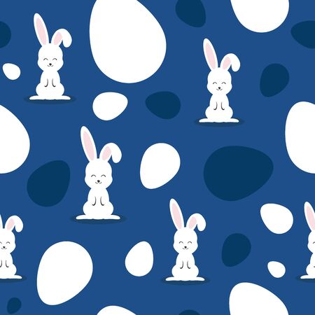 Easter pattern classic blue. Happy easter vector seamless pattern. Eggs classic blue. Easter background, easter banners, easter classic blue pattern. Vector easter illustaration