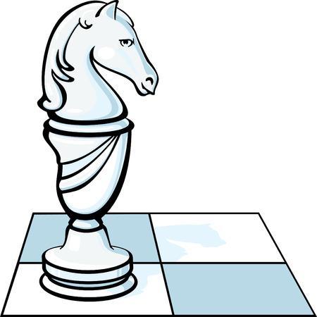 caballo de ajedrez: El caballo de ajedrez en una plaza Vectores