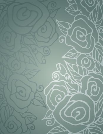 꽃 장미와 우아함 원활한 패턴 스톡 콘텐츠 - 15251784