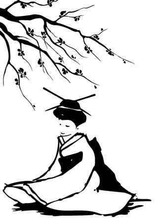 аниме: Гейша и сакура