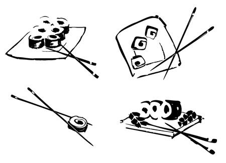 Sushi fondo del menú