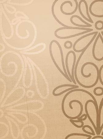 Leinen beige Struktur mit Musterzeichnen Standard-Bild - 15251834