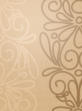 Linen beige structure with pattern drawing  Vector