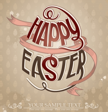 Happy Easter  Vector illustration   Stock Vector - 15311114