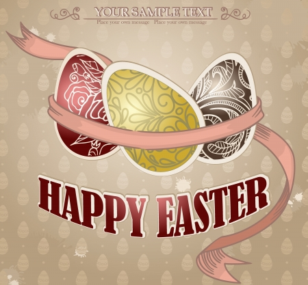 Happy Easter  Vector illustration   Stock Vector - 15311115