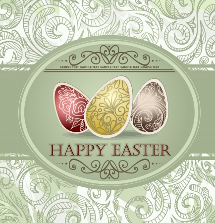 Vintage easter design  Vector illustration  Stock Vector - 15311113