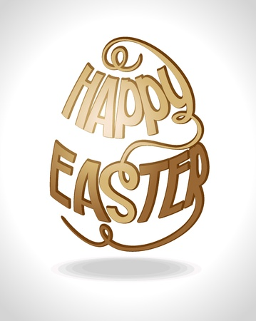 Happy Easter  Vector illustration   Stock Vector - 15311084