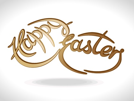 Text featuring Easter greetings  Vector illustration Stock Vector - 15311083