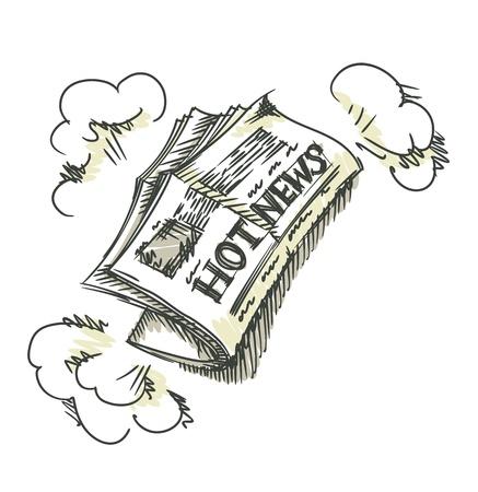 newsprint: Newspaper.