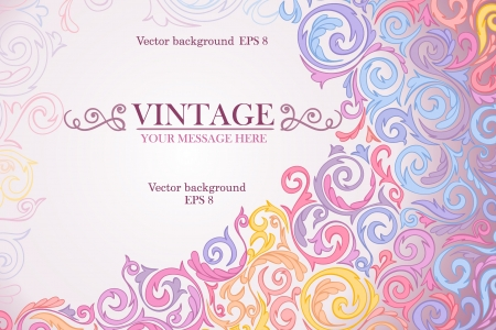 Colorful vintage background. Stock Vector - 15346196