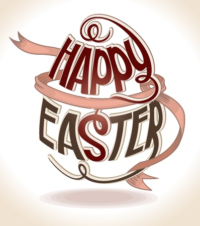 Happy Easter.  Stock Vector - 15346193
