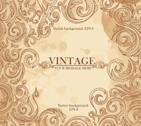 Vintage background pattern. Vector