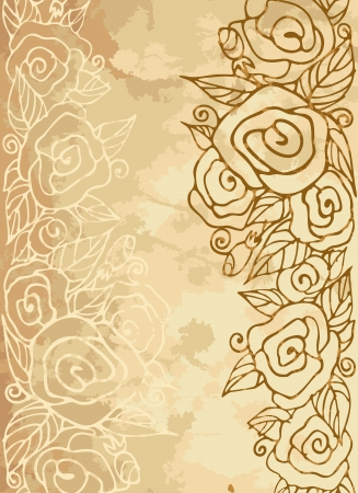Romantic vintage rose background. Vector