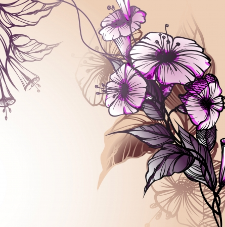 Floral background. Stock Vector - 16911924