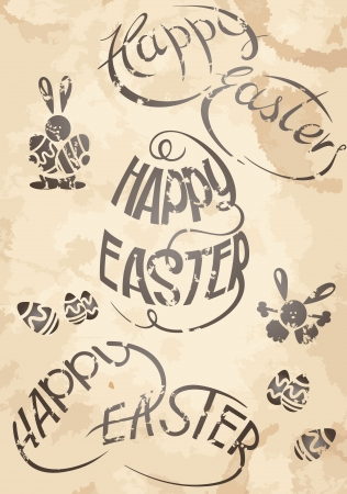 Happy Easter set: design elements.  Eps 8. Stock Vector - 16912003