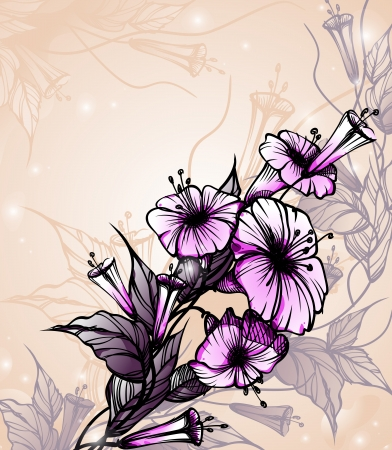 Floral background. Stock Vector - 16912006