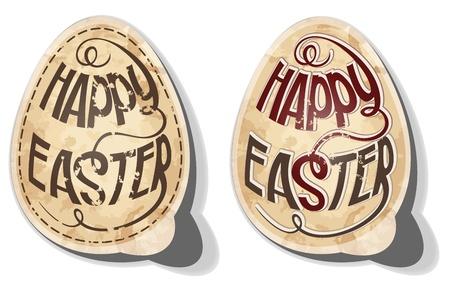 Happy Easter stickers. Vector
