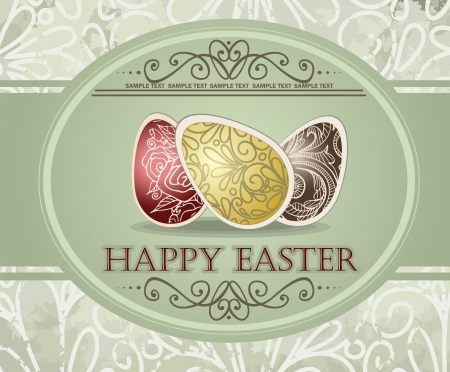 Vintage easter design Vector