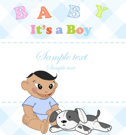 Baby boy. Photo Album. Vector