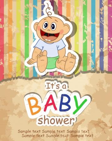 baby background: Baby Shower. Illustration