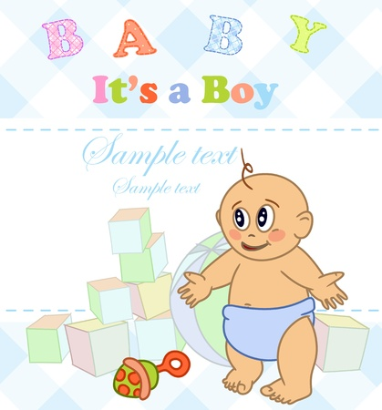 Baby boy. Photo Album. Stock Vector - 16912321