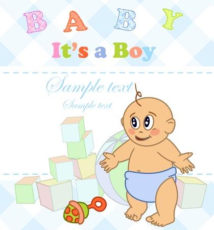 Baby boy. Photo Album. Stock Vector - 16912321