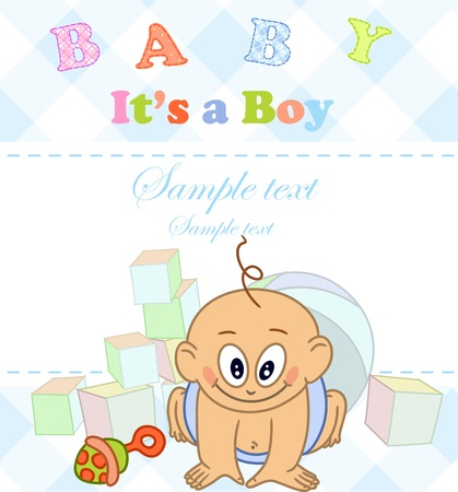 Baby boy. Photo Album. Stock Vector - 16912259